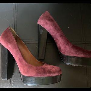 Lanvin Paris spring 2009 suede burgundy pumps